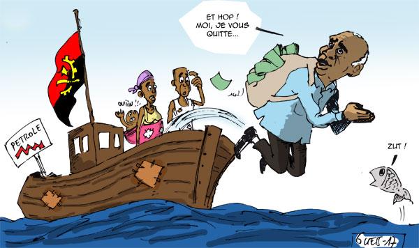 Dos Santos quitte le navire angolais en pleine crise avec une belle fortune